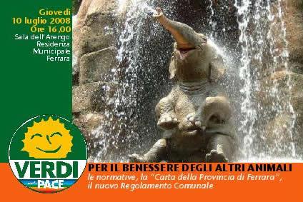 """<div class=""""at-above-post-cat-page addthis_tool"""" data-url=""""http://www.verdi.ferrara.it/sito/2008/07/07/benessere-animale-incontro-il-10-luglio-alla-sala-arengo/""""></div>I gruppi consiliari Verdi di Comune e Provincia di Ferrara hanno organizzato per le ore 16,00 di domani, giovedì 10 luglio, alla Sala dell'Arengo (Residenza Municipale) una iniziativa pubblica dedicata […]<!-- AddThis Advanced Settings above via filter on get_the_excerpt --><!-- AddThis Advanced Settings below via filter on get_the_excerpt --><!-- AddThis Advanced Settings generic via filter on get_the_excerpt --><!-- AddThis Share Buttons above via filter on get_the_excerpt --><!-- AddThis Share Buttons below via filter on get_the_excerpt --><div class=""""at-below-post-cat-page addthis_tool"""" data-url=""""http://www.verdi.ferrara.it/sito/2008/07/07/benessere-animale-incontro-il-10-luglio-alla-sala-arengo/""""></div><!-- AddThis Share Buttons generic via filter on get_the_excerpt -->"""