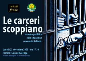 Le carceri scoppiano. Domani a Ferrara.