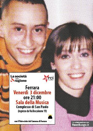 """<div class=""""at-above-post-arch-page addthis_tool"""" data-url=""""http://www.verdi.ferrara.it/sito/2010/11/27/presentazione-a-ferrara-del-libro-di-ilaria-cucchi/""""></div>Società della Ragione – Arci Ferrara in collaborazione con: Fuoriluogo.it Con il Patrocinio del Comune di Ferrara Venerdì 3 dicembre, ore 21 Sala della Musica Complesso di San Paolo ingresso […]<!-- AddThis Advanced Settings above via filter on get_the_excerpt --><!-- AddThis Advanced Settings below via filter on get_the_excerpt --><!-- AddThis Advanced Settings generic via filter on get_the_excerpt --><!-- AddThis Share Buttons above via filter on get_the_excerpt --><!-- AddThis Share Buttons below via filter on get_the_excerpt --><div class=""""at-below-post-arch-page addthis_tool"""" data-url=""""http://www.verdi.ferrara.it/sito/2010/11/27/presentazione-a-ferrara-del-libro-di-ilaria-cucchi/""""></div><!-- AddThis Share Buttons generic via filter on get_the_excerpt -->"""