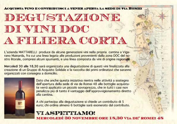 """<div class=""""at-above-post-cat-page addthis_tool"""" data-url=""""http://www.verdi.ferrara.it/sito/2011/11/22/un-assaggio-per-una-sede/""""></div>Acquista vino e contribuisci a tener aperta la sede di via Romei DEGUSTAZIONE DI VINI DOC A FILIERA CORTA L'azienda MATTARELLI produce da alcune generazioni vini nella propria cantina a […]<!-- AddThis Advanced Settings above via filter on get_the_excerpt --><!-- AddThis Advanced Settings below via filter on get_the_excerpt --><!-- AddThis Advanced Settings generic via filter on get_the_excerpt --><!-- AddThis Share Buttons above via filter on get_the_excerpt --><!-- AddThis Share Buttons below via filter on get_the_excerpt --><div class=""""at-below-post-cat-page addthis_tool"""" data-url=""""http://www.verdi.ferrara.it/sito/2011/11/22/un-assaggio-per-una-sede/""""></div><!-- AddThis Share Buttons generic via filter on get_the_excerpt -->"""