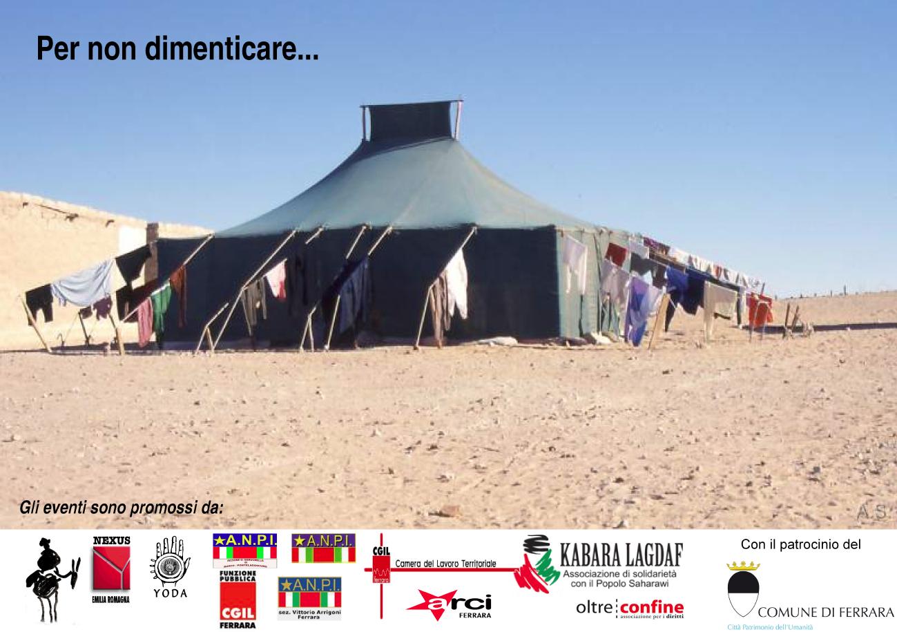 """<div class=""""at-above-post-cat-page addthis_tool"""" data-url=""""http://www.verdi.ferrara.it/sito/2011/11/04/novembre-tre-iniziative-per-non-dimenticare-il-popolo-saharawi/""""></div>La Funzione Pubblica della CGIL – assieme ad altre associazioni ed organizzazioni locali – e con il patrocinio del Comune di Ferrara sta organizzando una serie di incontri sul popolo […]<!-- AddThis Advanced Settings above via filter on get_the_excerpt --><!-- AddThis Advanced Settings below via filter on get_the_excerpt --><!-- AddThis Advanced Settings generic via filter on get_the_excerpt --><!-- AddThis Share Buttons above via filter on get_the_excerpt --><!-- AddThis Share Buttons below via filter on get_the_excerpt --><div class=""""at-below-post-cat-page addthis_tool"""" data-url=""""http://www.verdi.ferrara.it/sito/2011/11/04/novembre-tre-iniziative-per-non-dimenticare-il-popolo-saharawi/""""></div><!-- AddThis Share Buttons generic via filter on get_the_excerpt -->"""